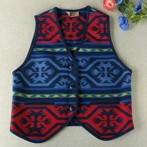 Pendleton Vest Southwest Wool Knockabouts Vintage